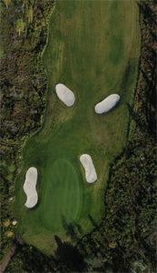 Flygfoto över golfbana